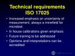 technical requirements iso 17025