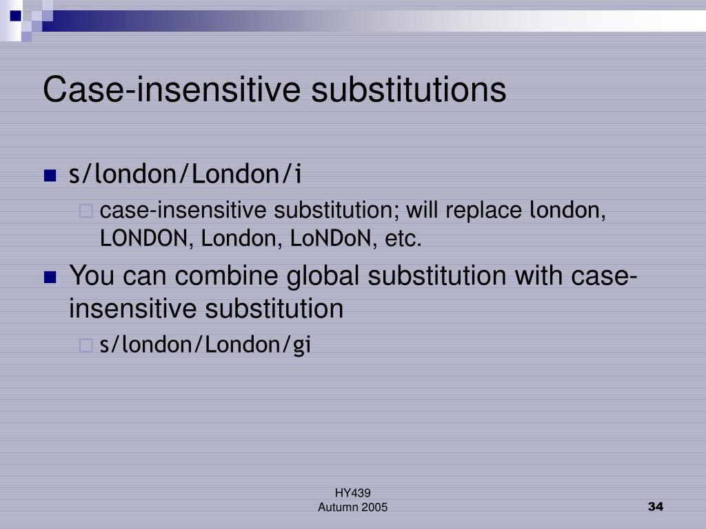 Case-insensitive substitutions