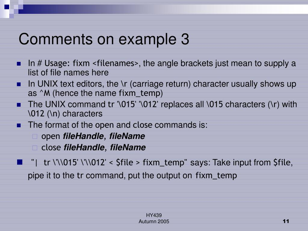 Comments on example 3