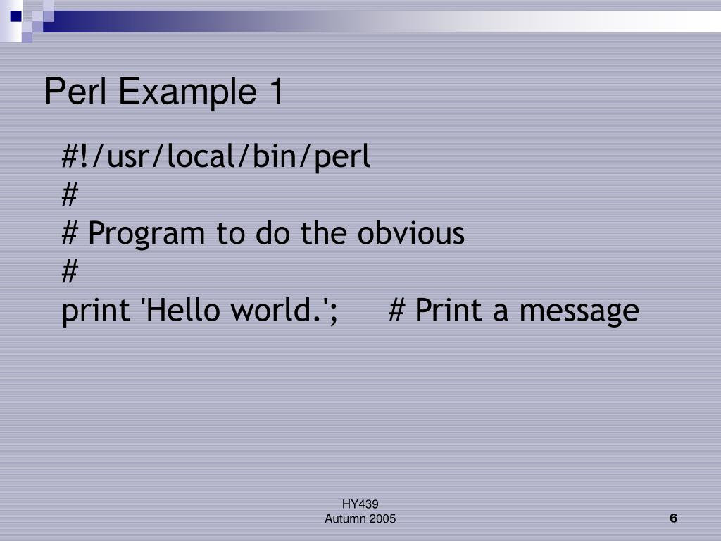 Perl Example 1