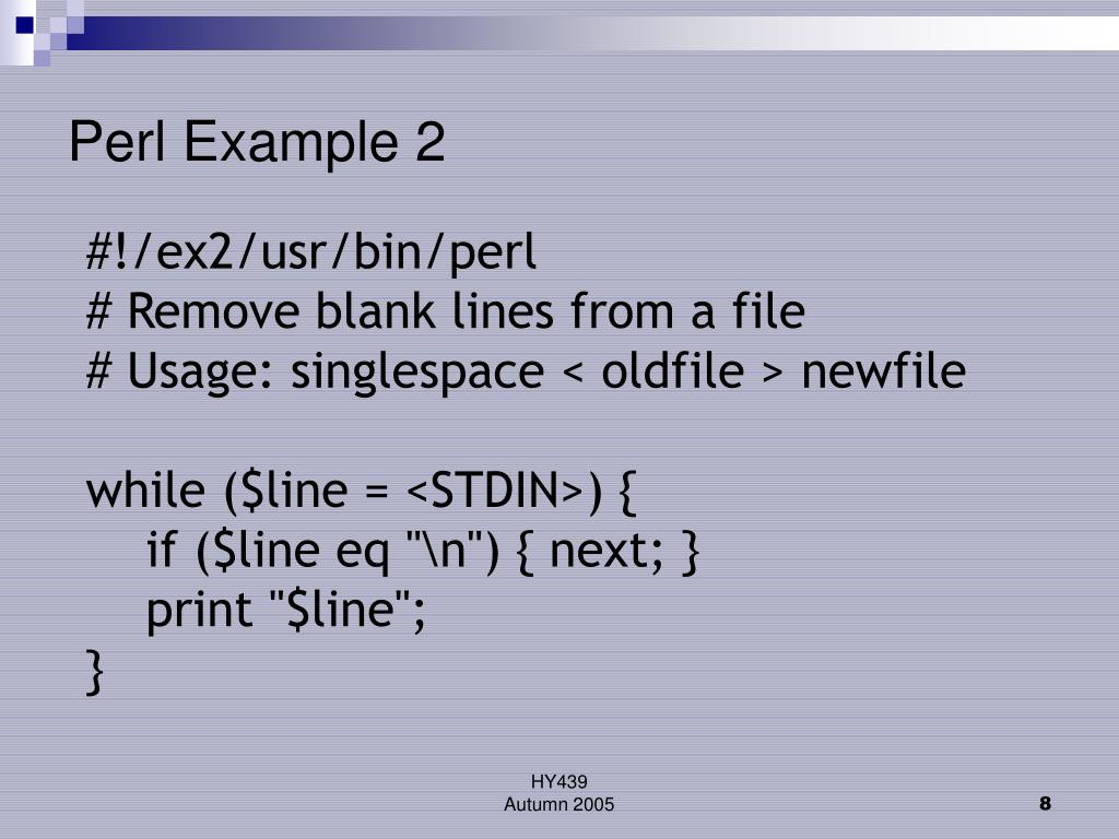 Perl Example 2
