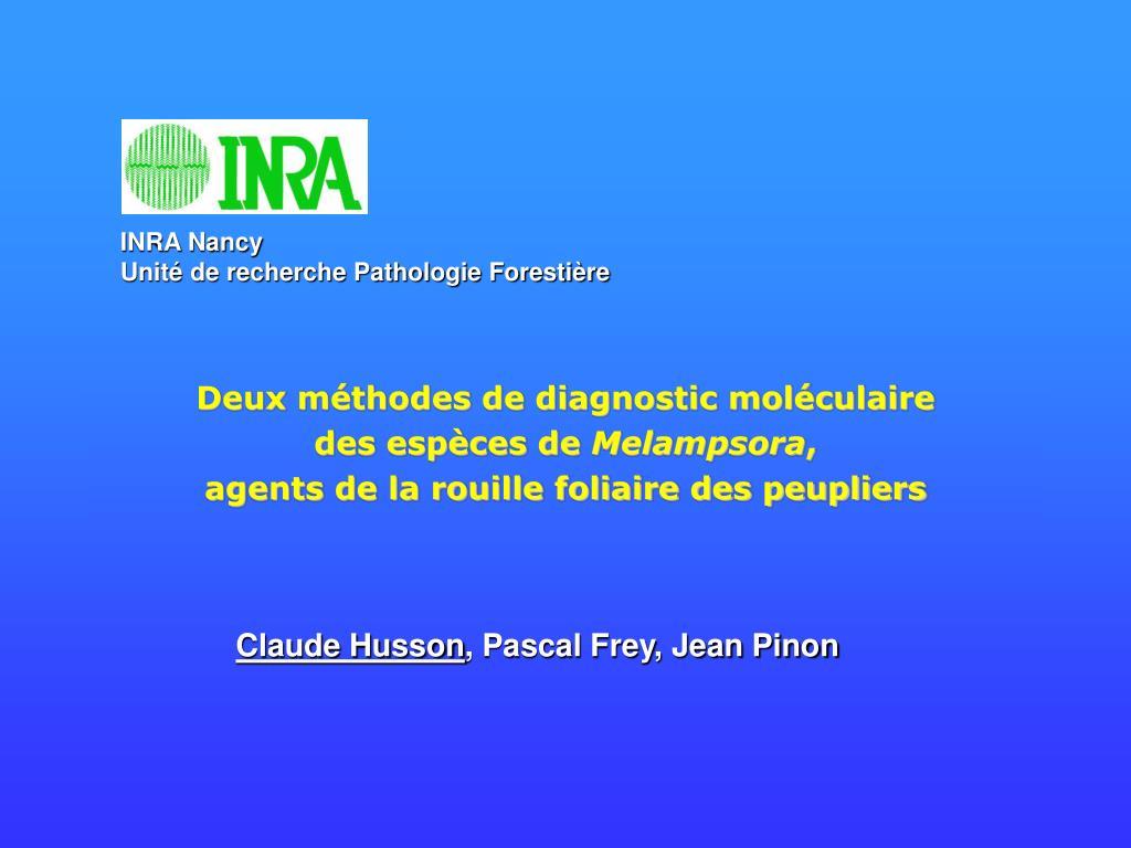 Deux méthodes de diagnostic moléculaire