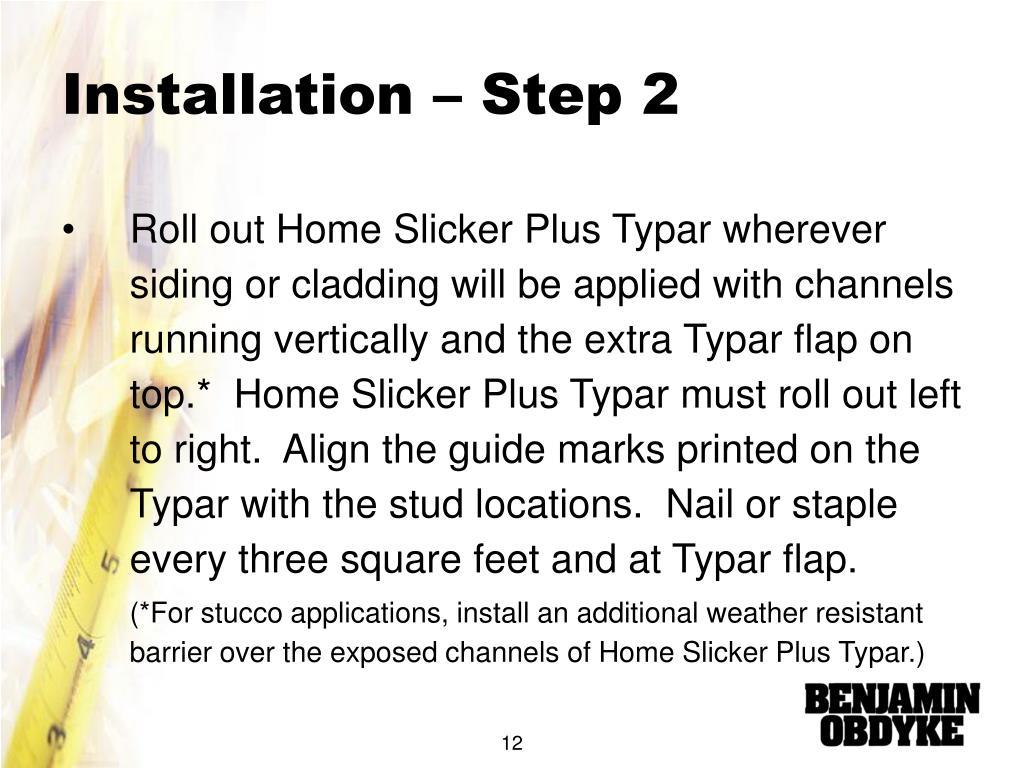 Installation – Step 2