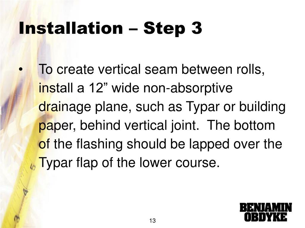 Installation – Step 3
