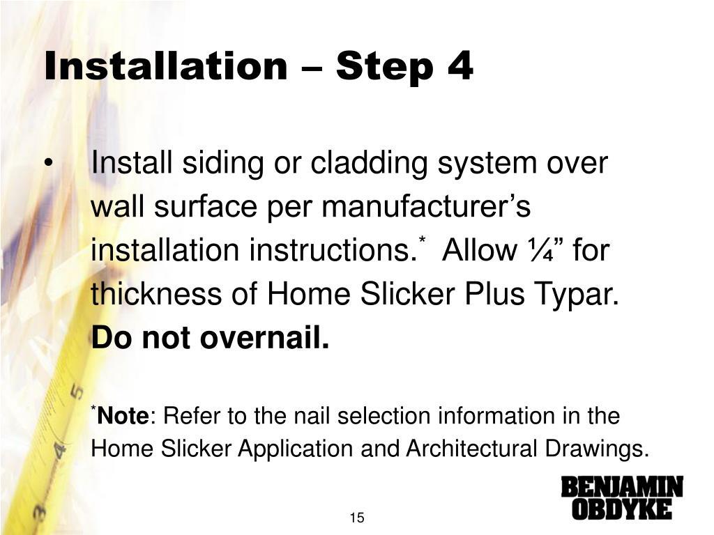 Installation – Step 4