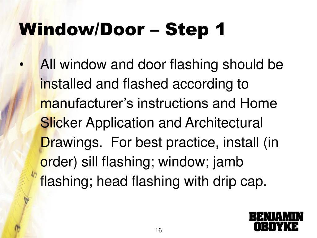 Window/Door – Step 1