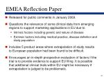 emea reflection paper
