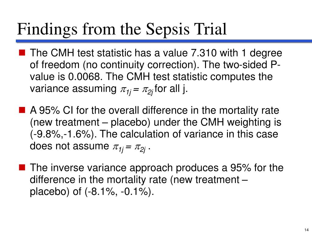 Findings from the Sepsis Trial