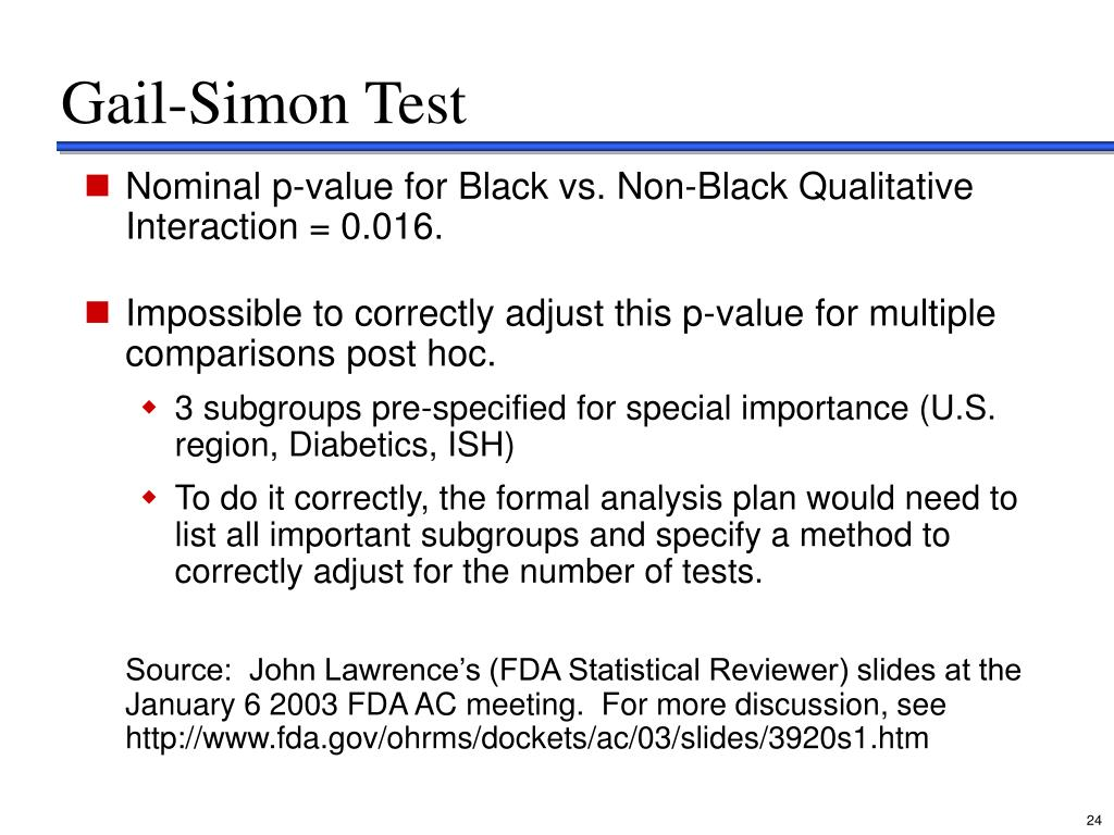 Gail-Simon Test
