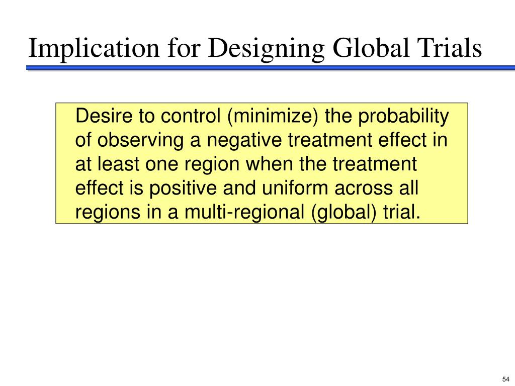 Implication for Designing Global Trials