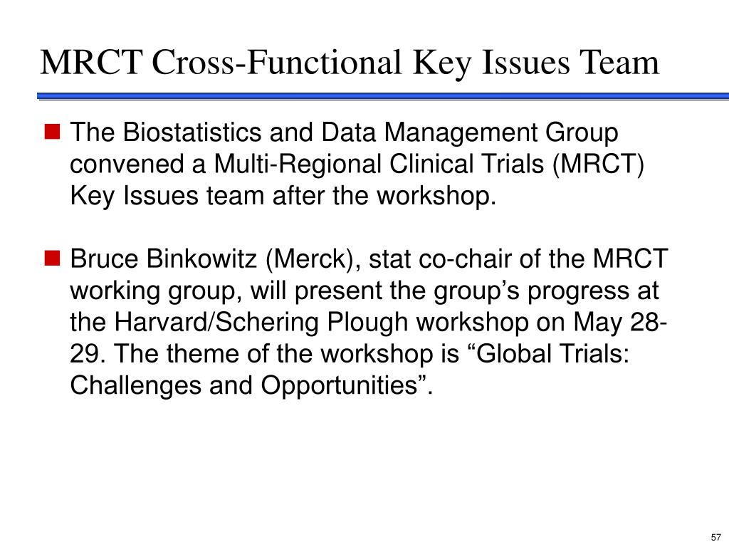 MRCT Cross-Functional Key Issues Team