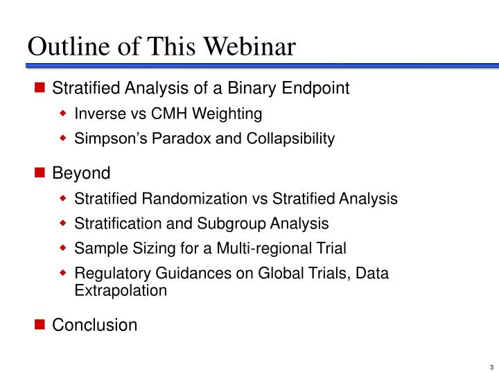 Outline of this webinar