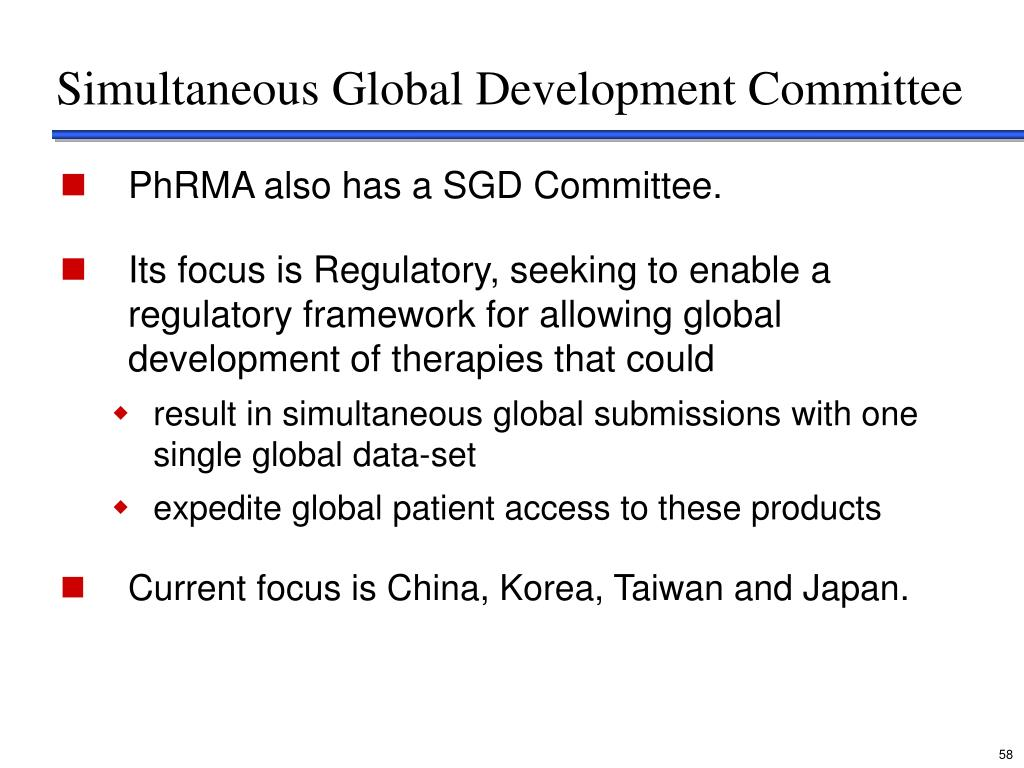 Simultaneous Global Development Committee