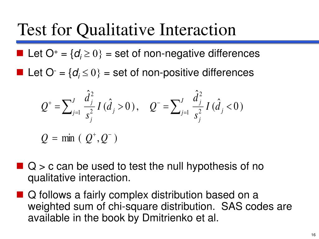 Test for Qualitative Interaction