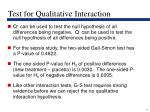 test for qualitative interaction17