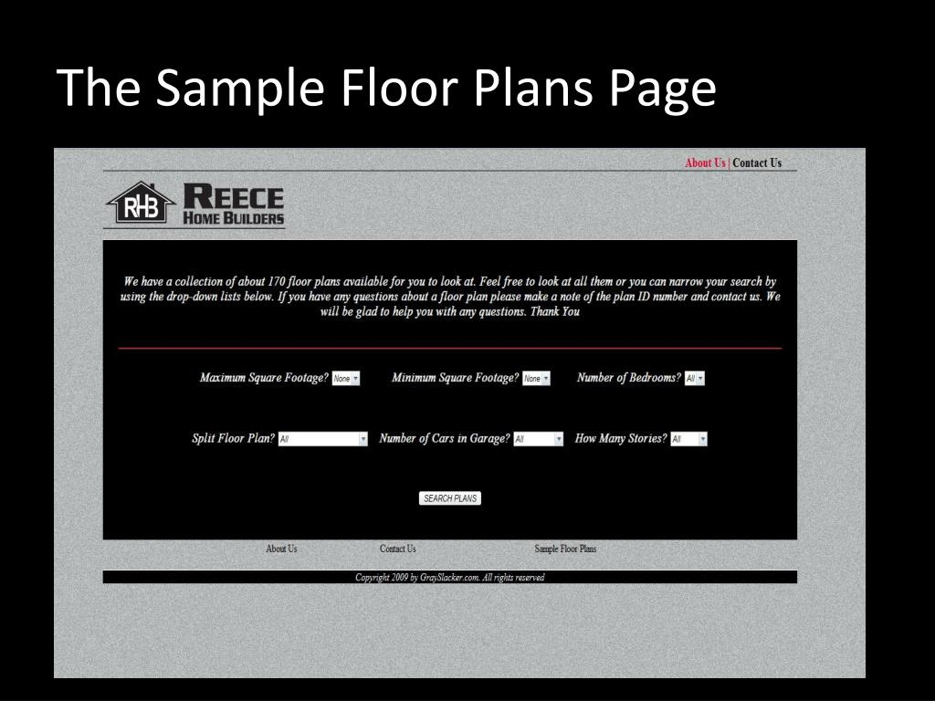 The Sample Floor Plans Page
