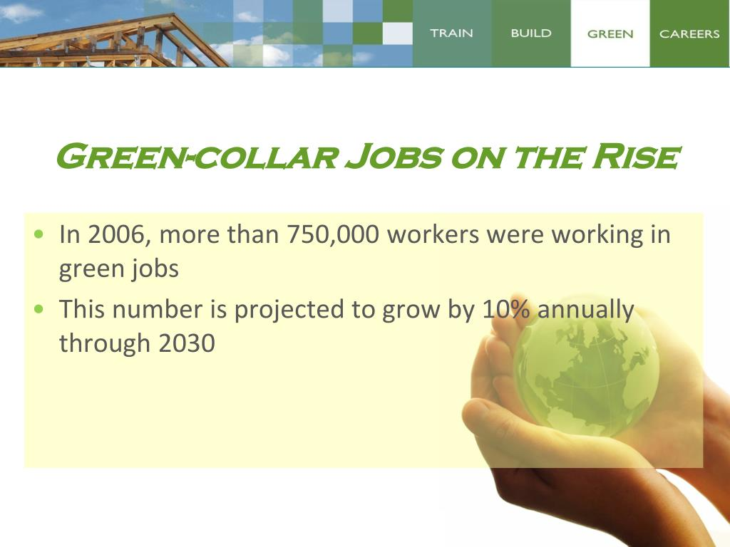 Green-collar Jobs on the Rise