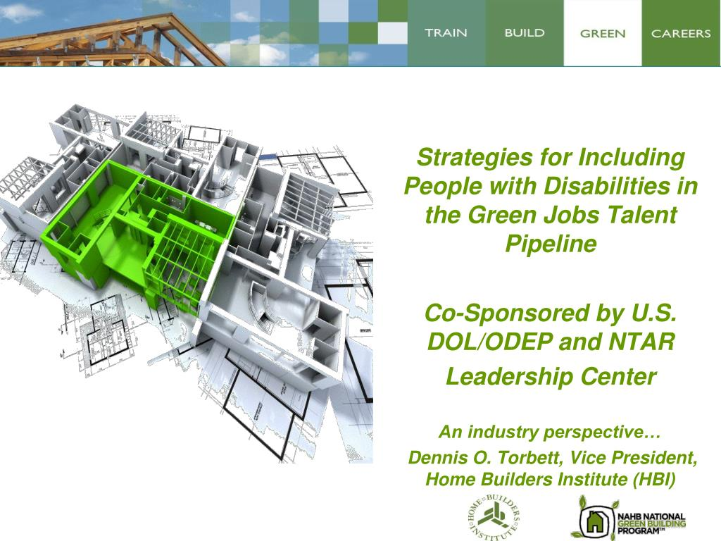 Strategies for Including People with Disabilities in the Green Jobs Talent Pipeline