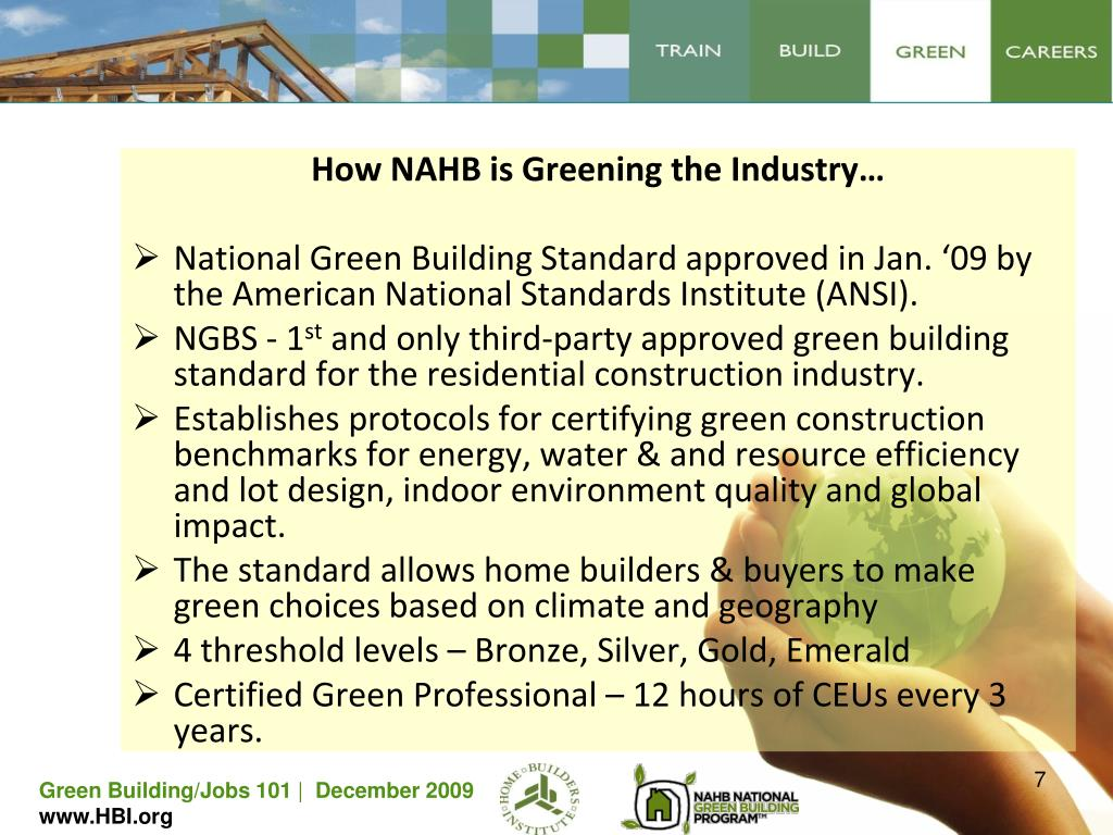 How NAHB is Greening the Industry…