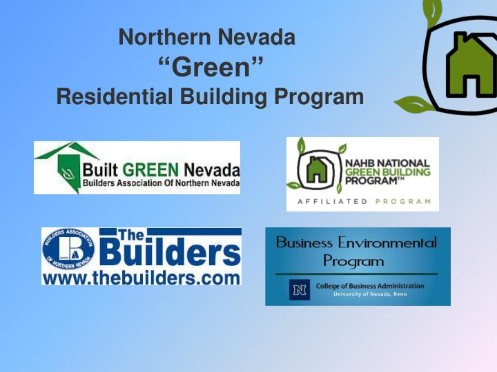 Northern nevada green residential building program
