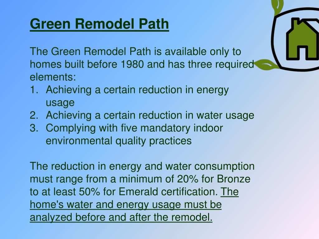 Green Remodel Path