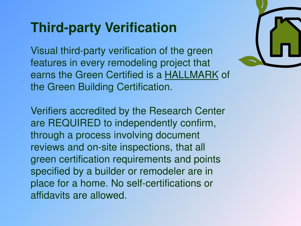 Third-party Verification
