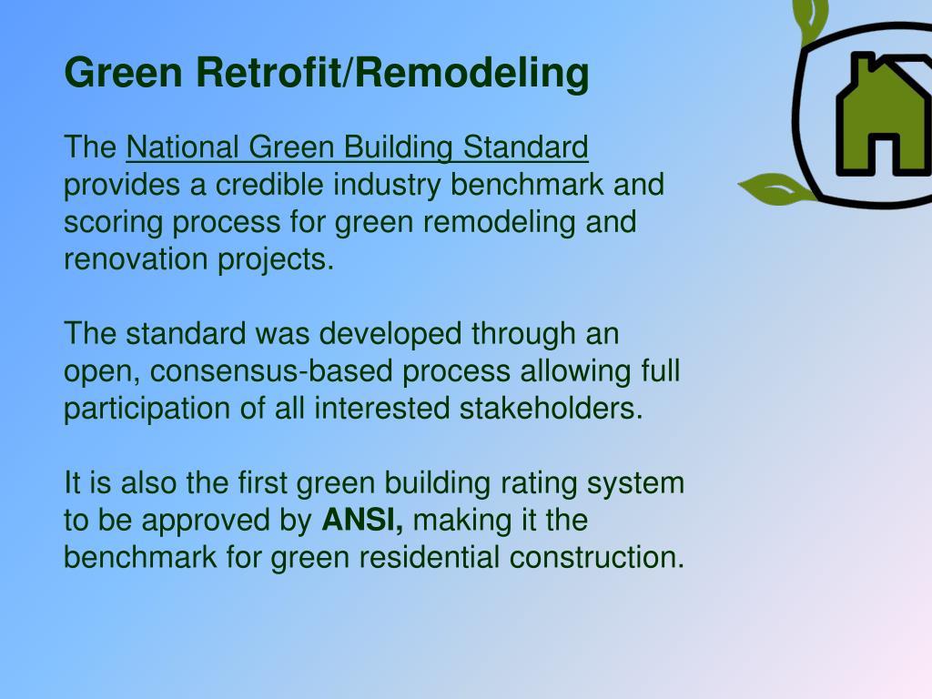 Green Retrofit/Remodeling