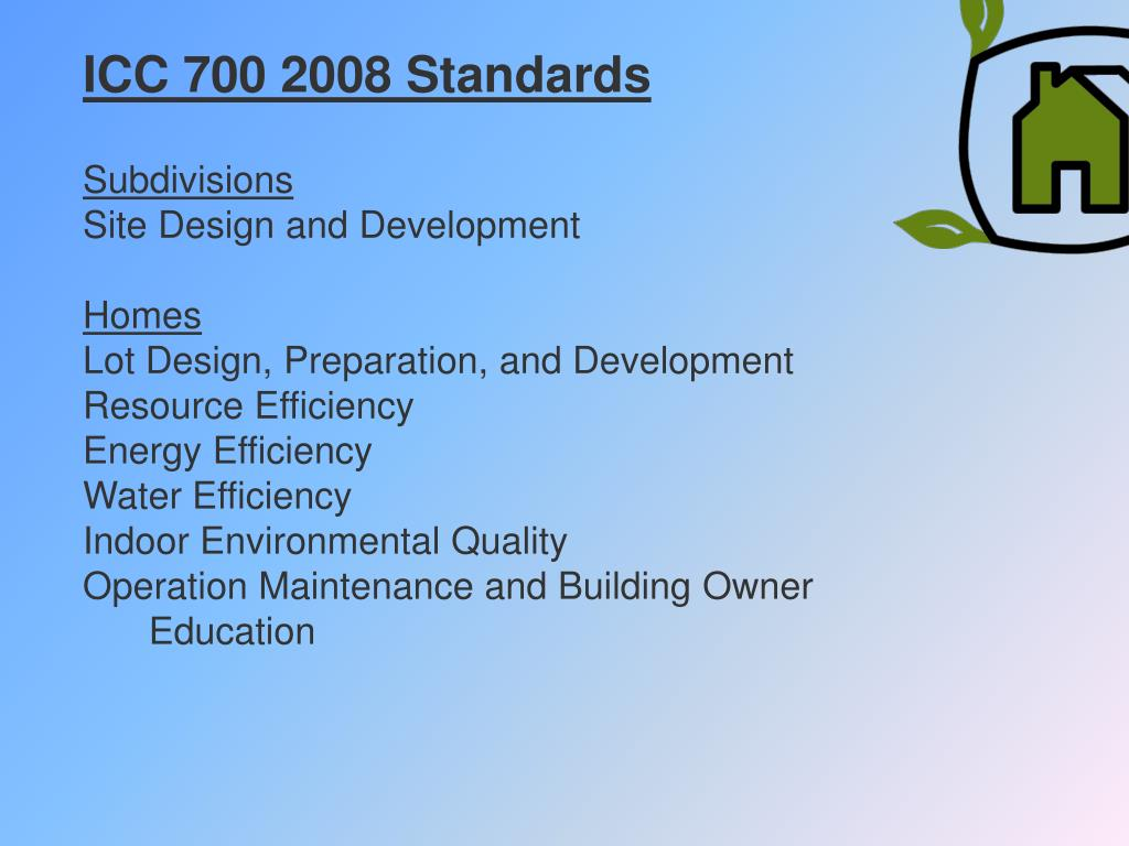 ICC 700 2008 Standards
