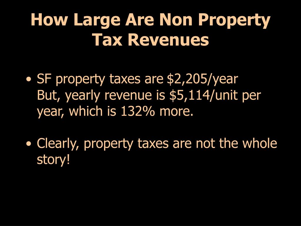 How Large Are Non Property Tax Revenues