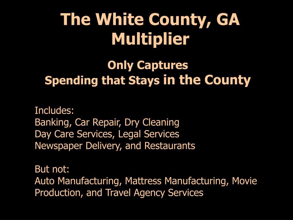 The White County, GA