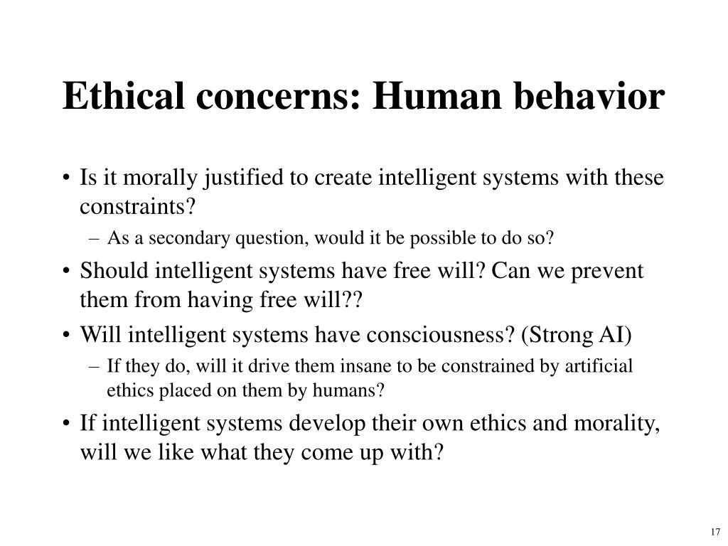 Ethical concerns: Human behavior