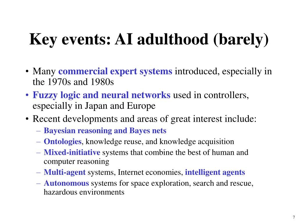 Key events: AI adulthood (barely)