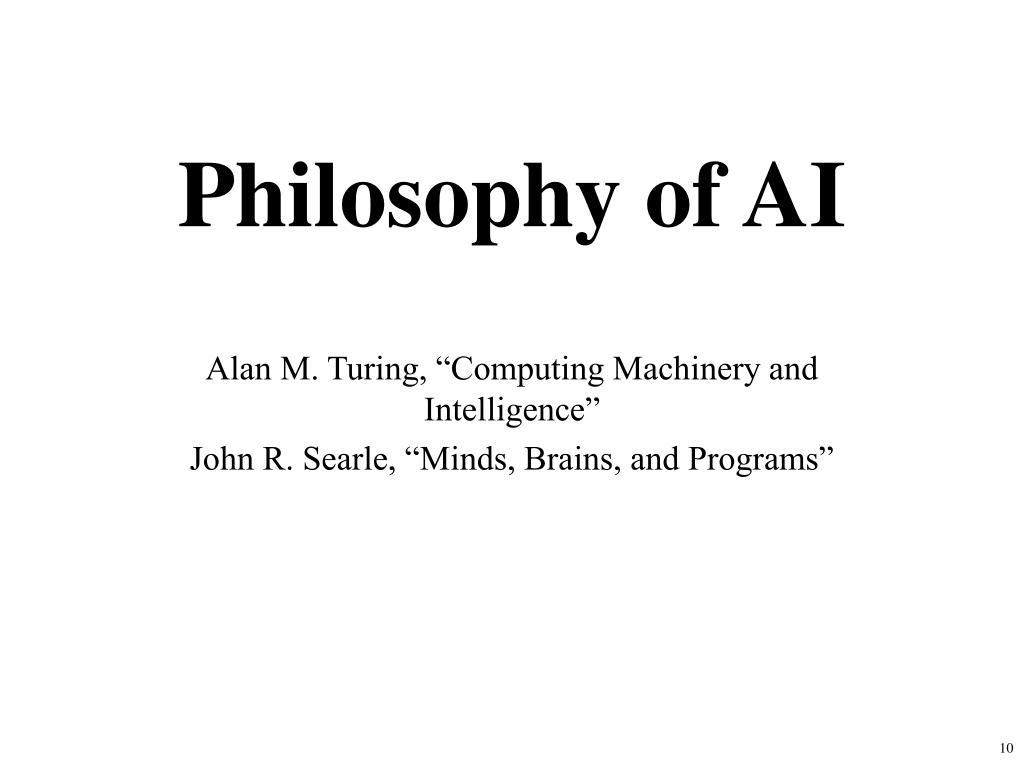 Philosophy of AI