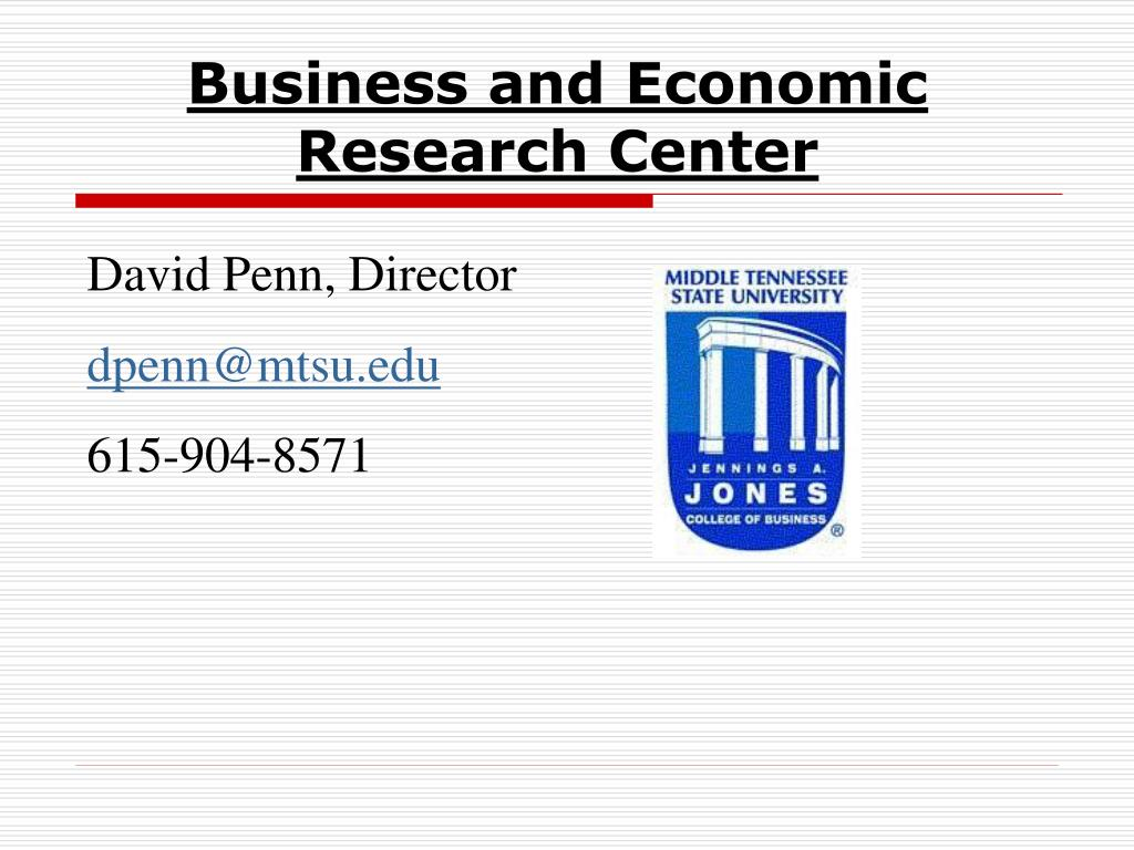 Business and Economic Research Center