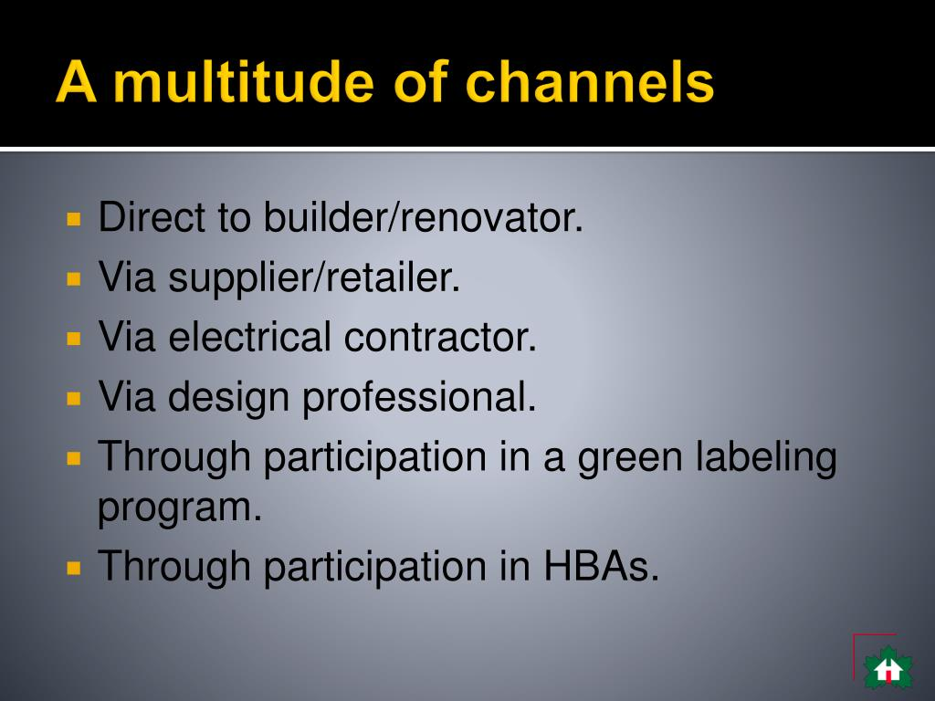 A multitude of channels