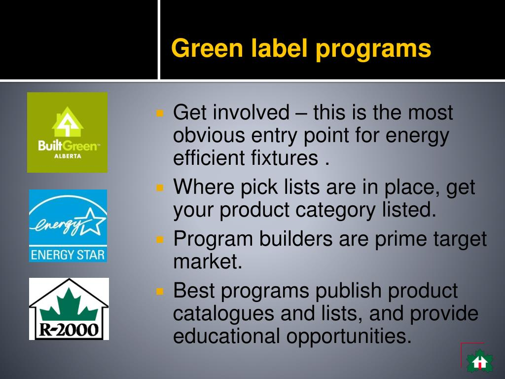 Green label programs