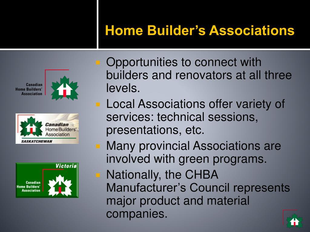 Home Builder's Associations