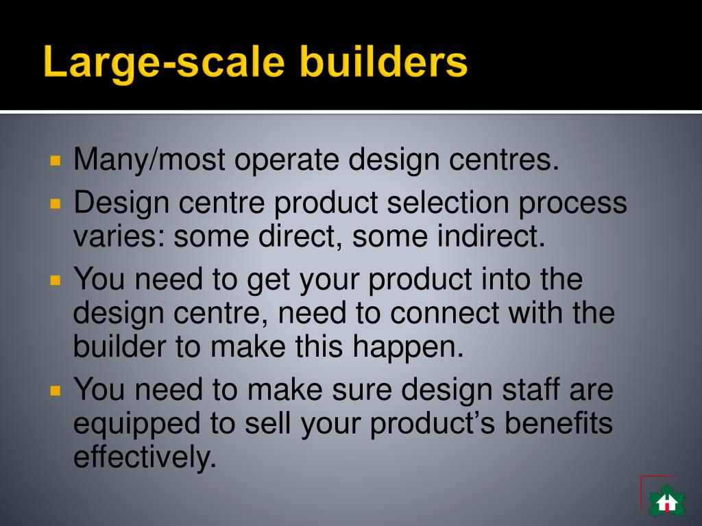 Large-scale builders