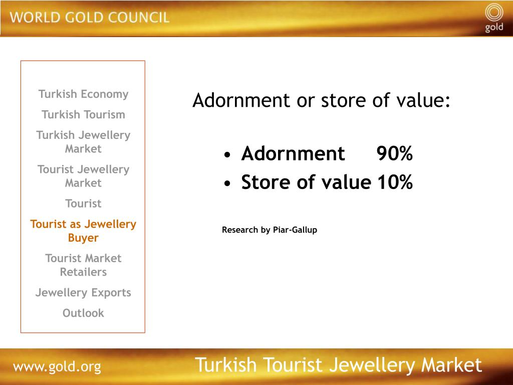 Adornment or store of value: