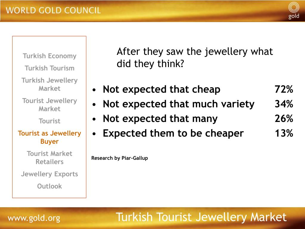 After they saw the jewellery what did they think?