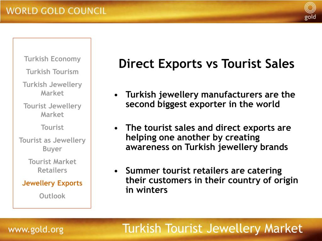 Direct Exports vs Tourist Sales