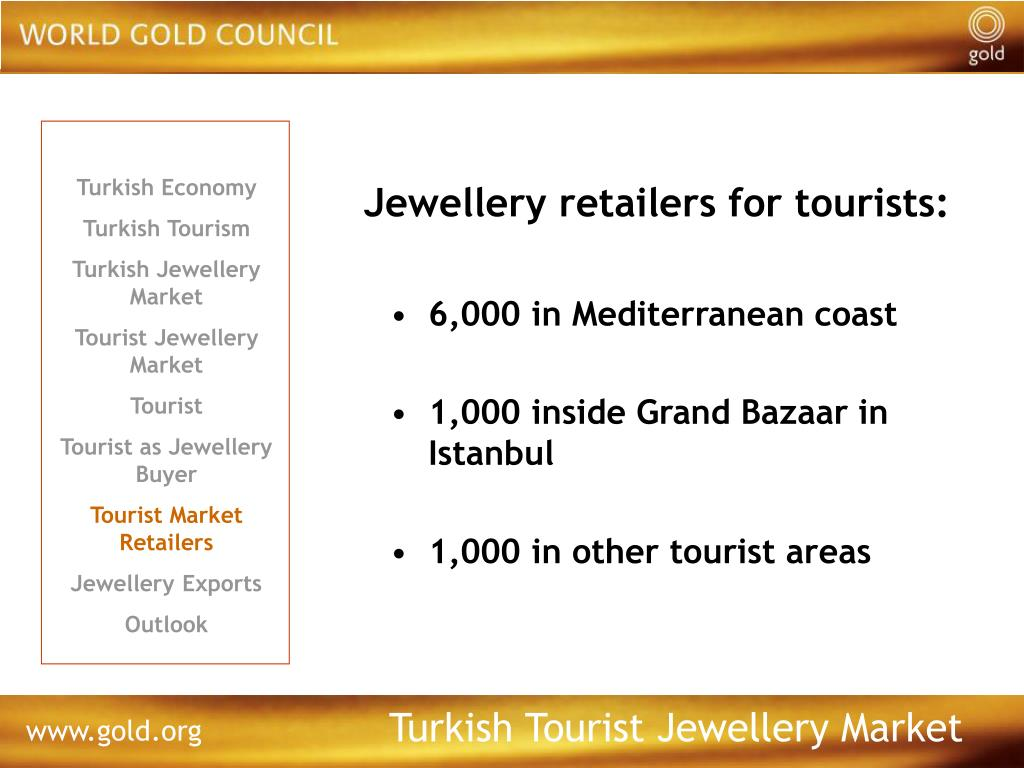 Jewellery retailers for tourists: