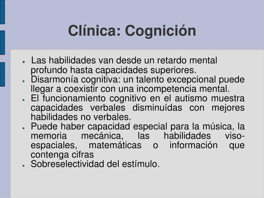 Clínica: Cognición