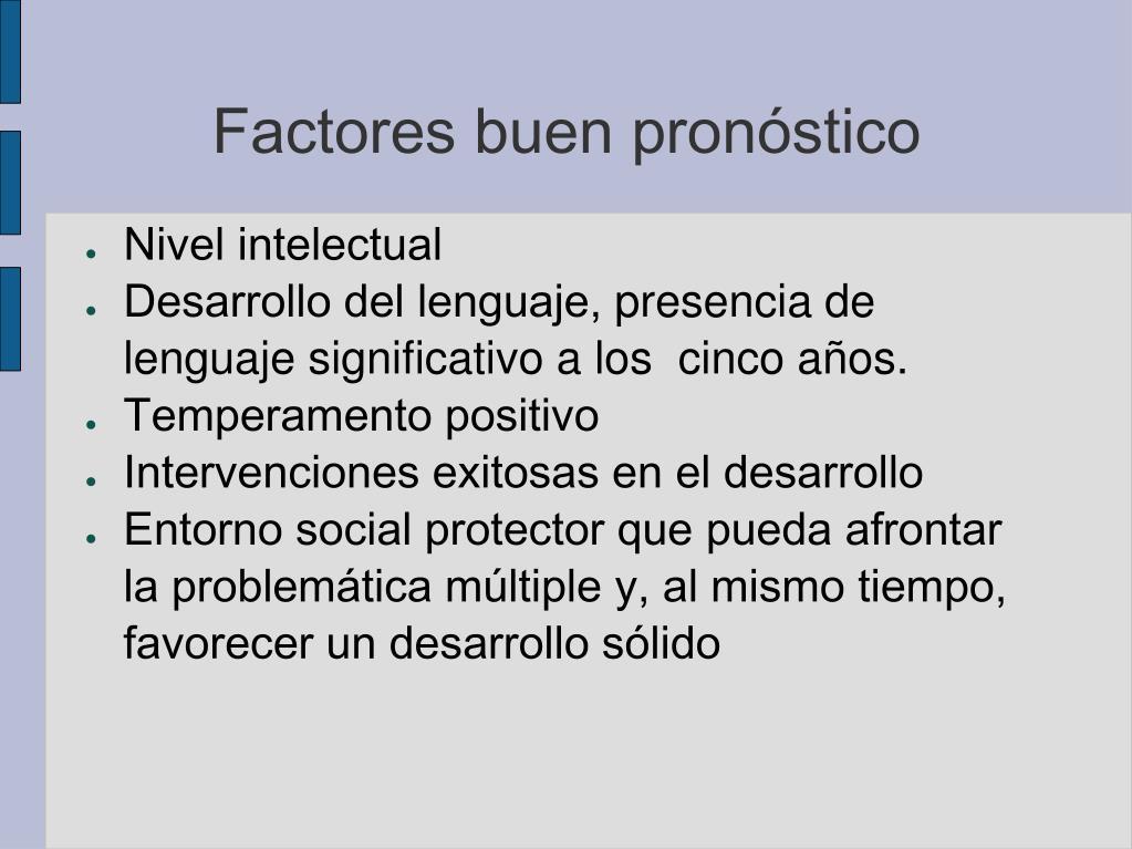 Factores buen pronóstico