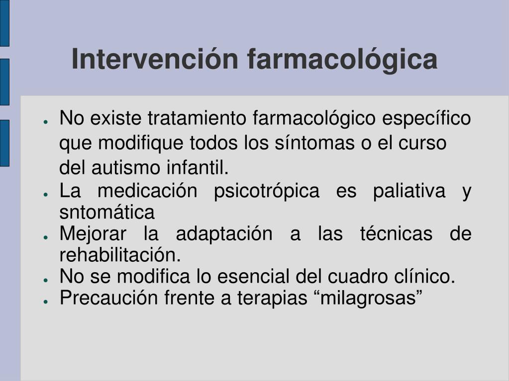Intervención farmacológica
