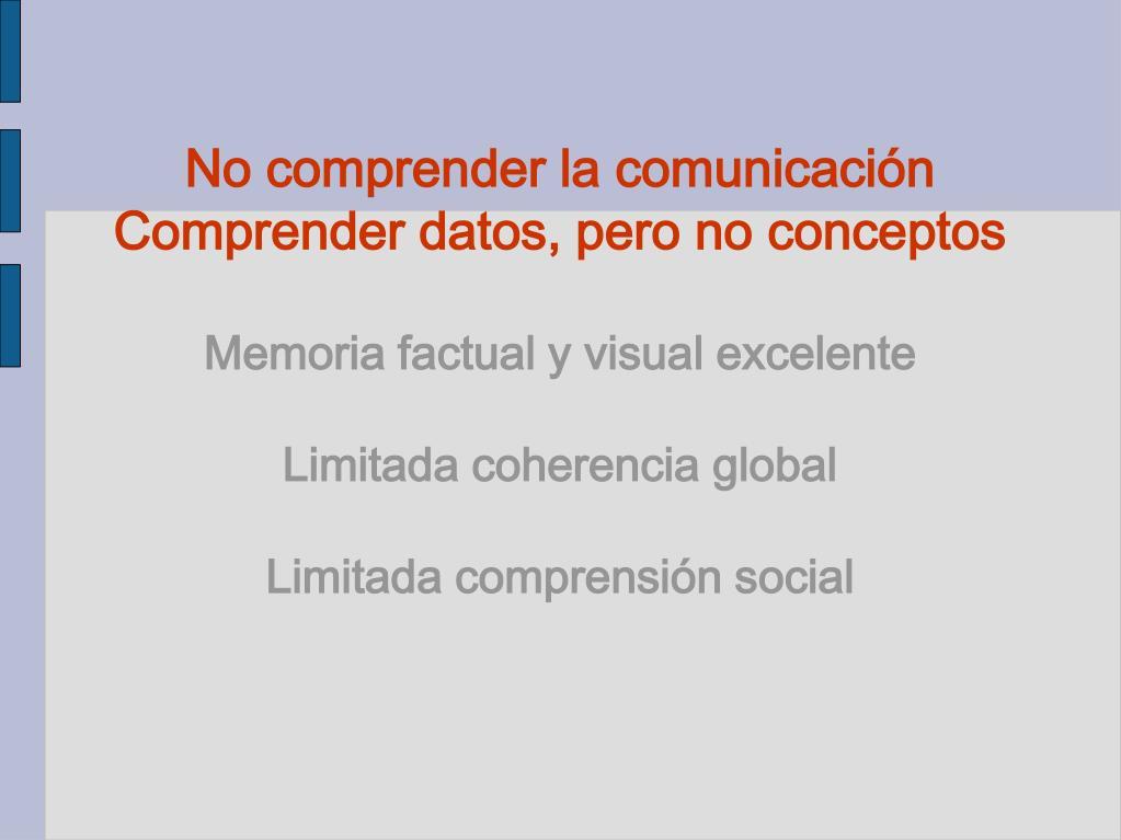 No comprender la comunicación