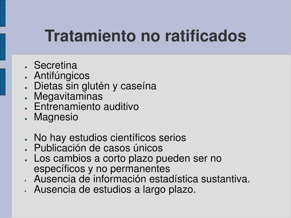 Tratamiento no ratificados