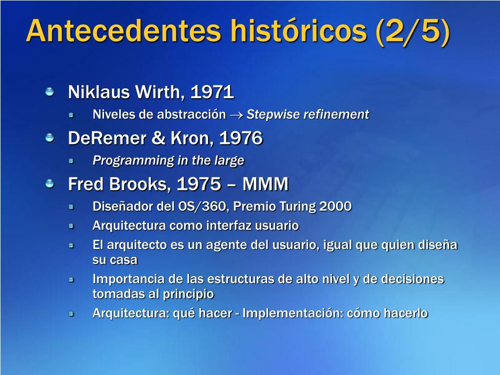 Antecedentes históricos (2/5)