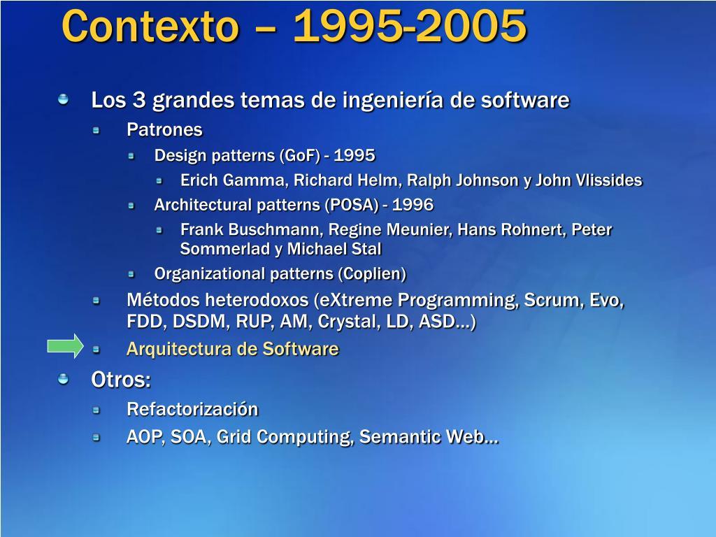 Contexto – 1995-2005