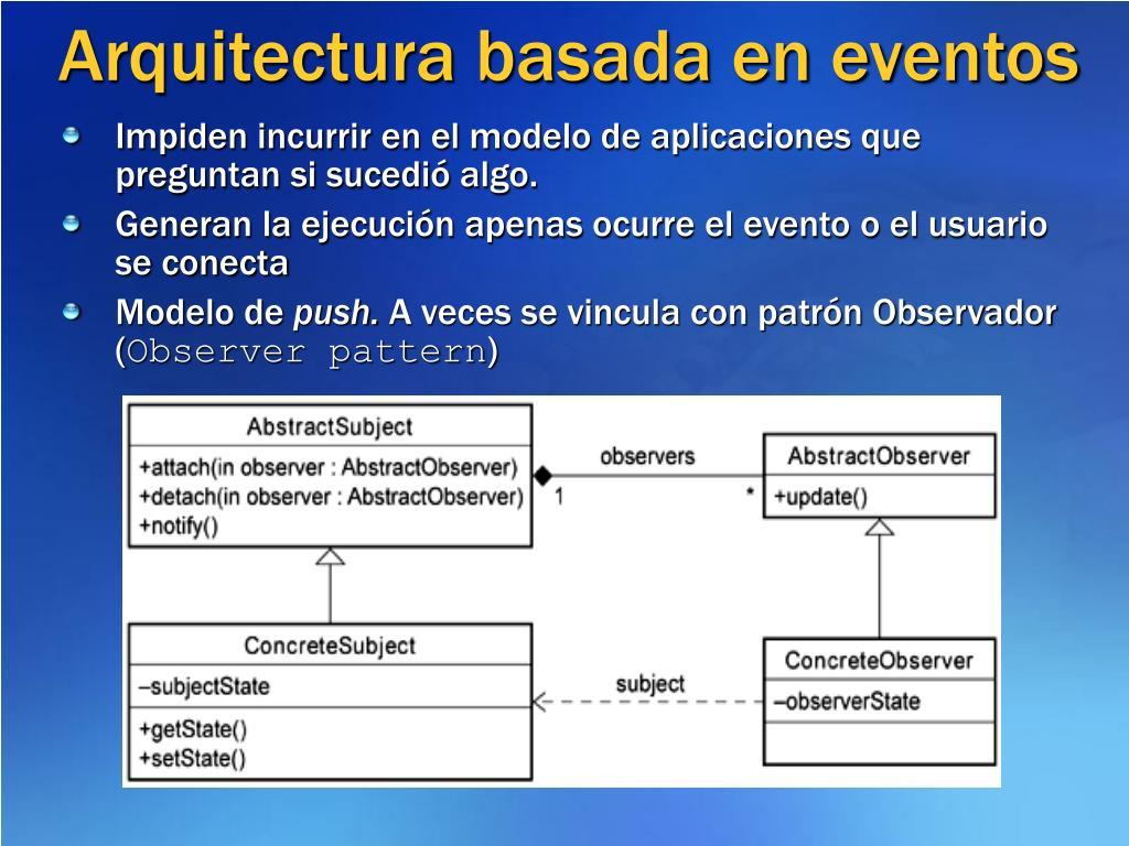 Arquitectura basada en eventos